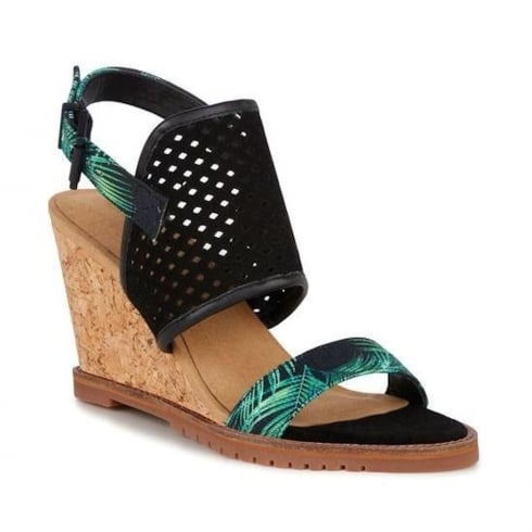 Emu Australia Womens Allamanda Palm Wedge Heeled Sandals