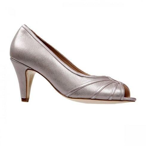 Van Dal Shoes Van Dal Hart Bamboo Metallic Peep Toe Court Heels