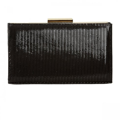 Van Dal Shoes Van Dal Zinnia Black Chevron Print Clutch Handbags