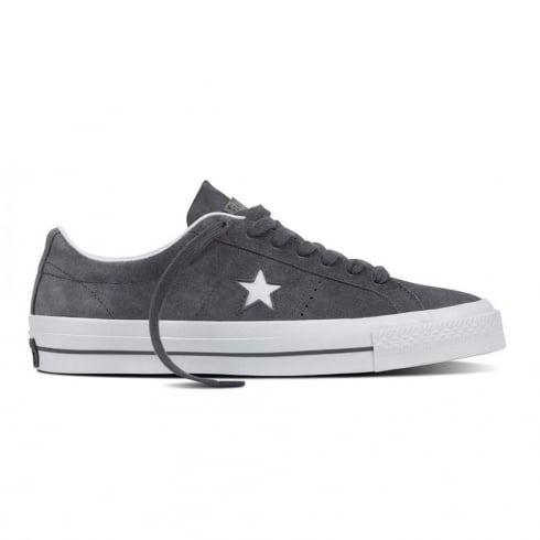 Converse Mens Cons One Star Suede Thunder Grey Trainers
