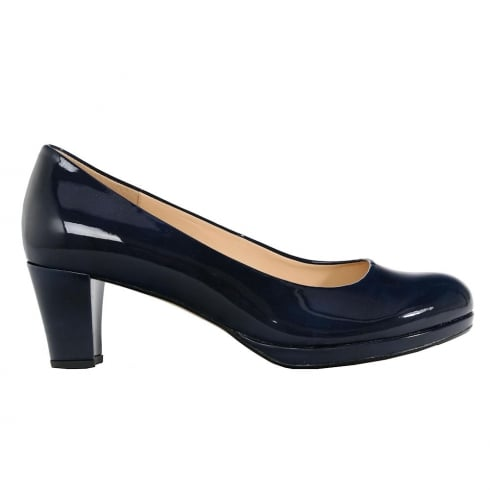 Gabor Figaro Navy Patent Court Shoes