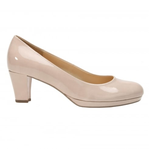 Gabor Figaro Nude Sand Patent Court Shoes