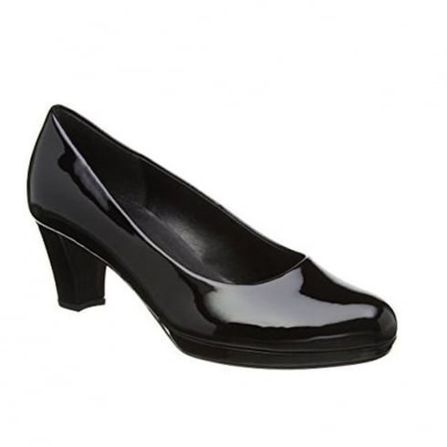 Gabor Figaro Black Patent Court Shoes