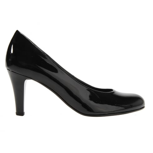 Gabor Lavender Black Patent Court High Heels