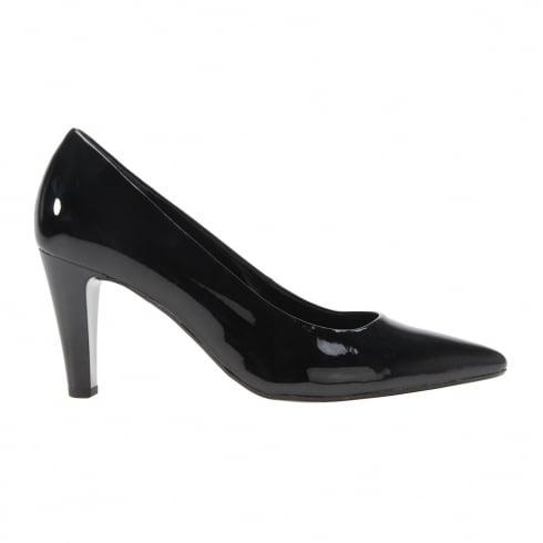 Gabor Sarika Black Patent Pointed High Heels