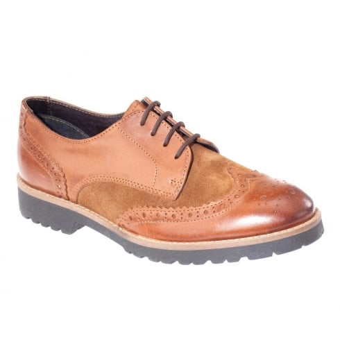 Dubarry Womens Tan Suede Harper Brogue Shoes