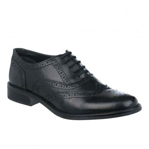 Dubarry Womens Black Leather Hough Brogue Shoes