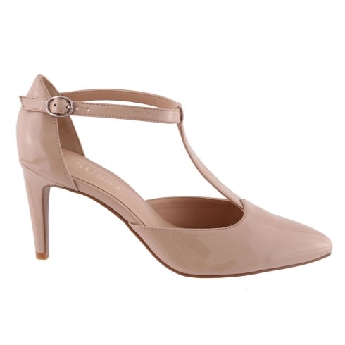 Susst GLENDA T-Strap Nude Patent Court Shoe