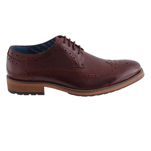 Morgan & Co Morgan&Co Burgundy Leather Smart Mens Brogue