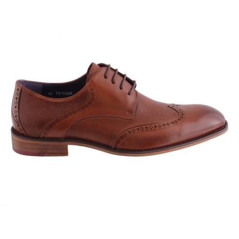 Morgan & Co Morgan&Co Tan Leather Smart Lace Up Mens Brogue