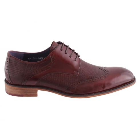 Morgan & Co Morgan&Co Wine Leather Smart Lace Up Mens Brogue