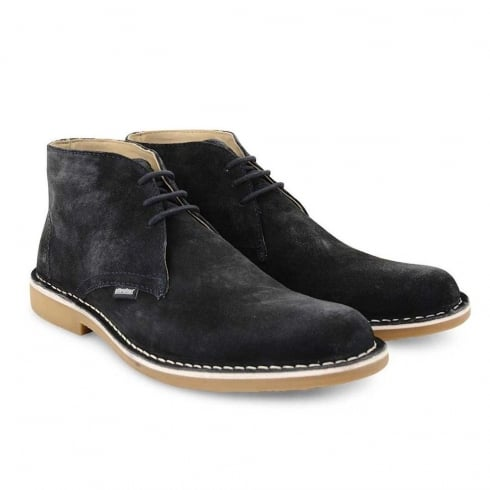 Lambretta Carnaby 2 Desert Navy Suede Mens Lace Up Boots