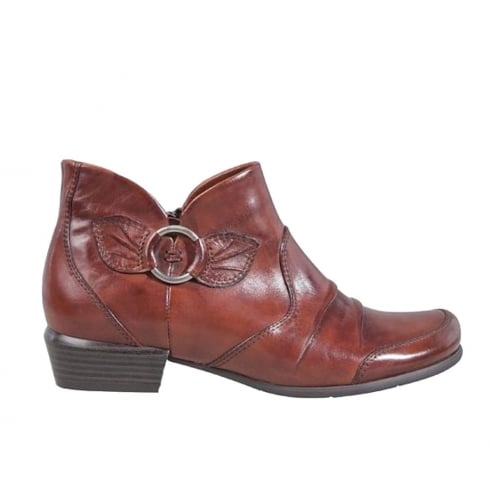 Regarde Le Ciel Womens Tan Leather Melany Ankle Boots