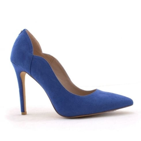 Escape Pancevo Two Blue Suede Pointed Court Shoe