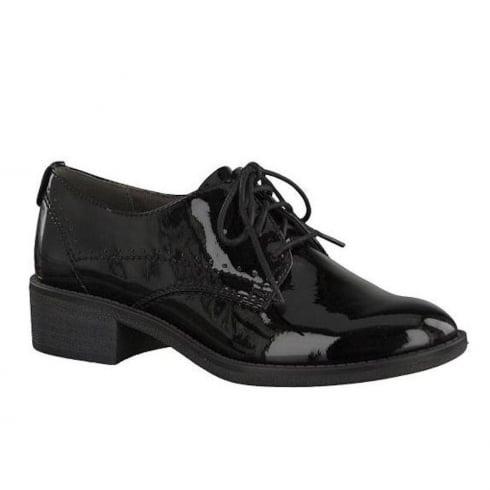 Soft Line Womens Black Patent Brogue Shoes