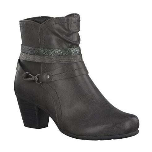 Soft Line Womens Graphite Ankle Heeled Boots
