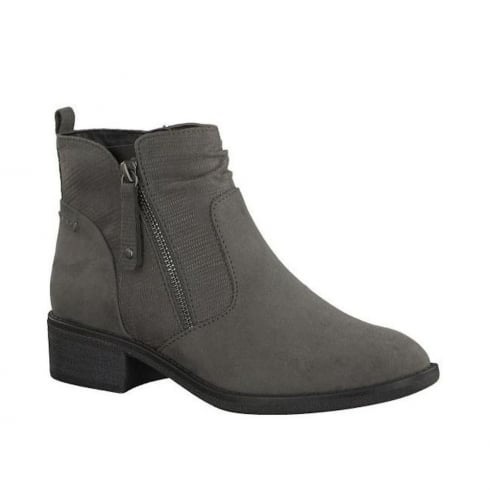 Soft Line Womens Graphite Suede Ankle Boots