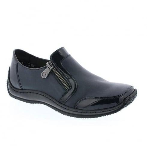Rieker Womens Navy/Marine Casual Flat Shoes