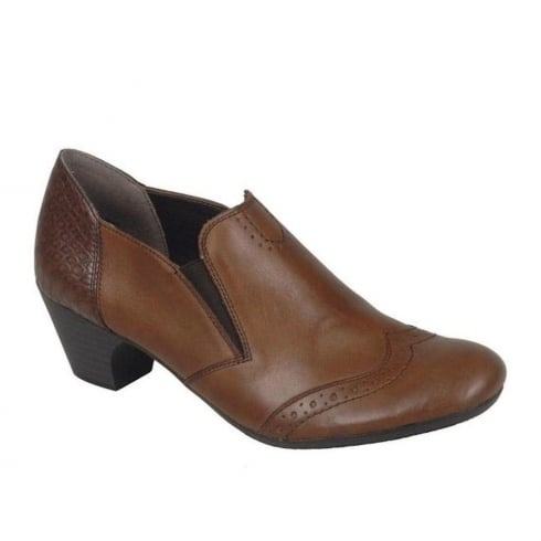 Rieker Womens Muskat Casual Slip-On Heeled Shoes