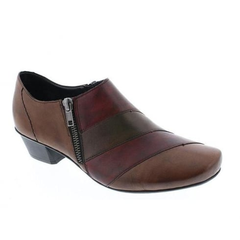 Rieker Womens Burgundy Cristallin Casual Heeled Shoes