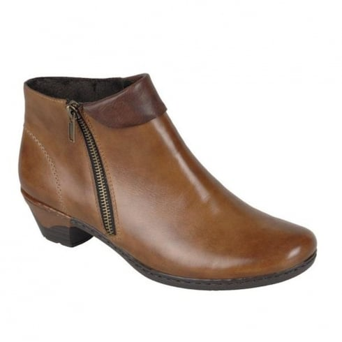 Rieker Womens Muskat Cristallin Casual Heeled Boots