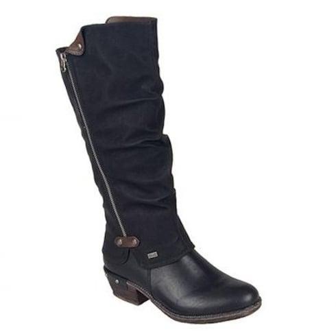 Rieker Womens Black Long Knee Boots
