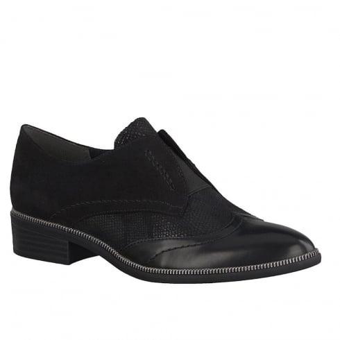 Tamaris Womens Black Slip On Smart Oxfords Shoes - 24305