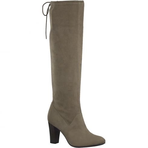 Tamaris Womens Pepper Faux Suede Long Stretch Boot
