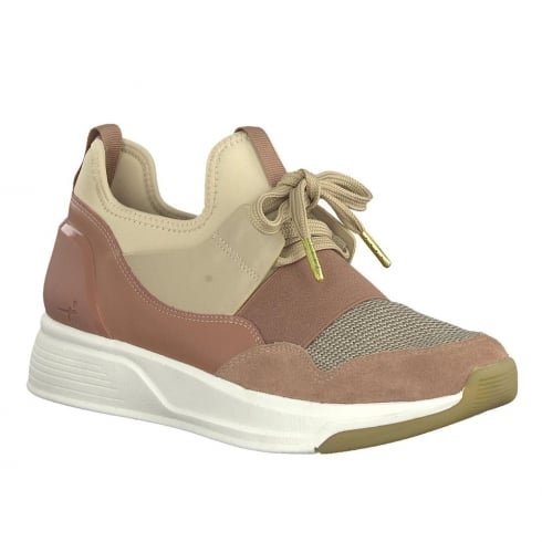 Tamaris Womens Nude Sporty Chic Lace Up Shoes - 23704