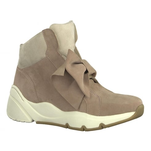Tamaris Womens Nude Sporty Hi Top Sneaker Boots - 25400