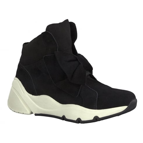 Tamaris Womens Black Sporty Hi Top Sneaker Boots