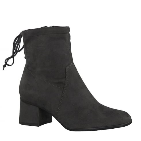 Tamaris Womens Anthracite Block Heeled Ankle Boots - 25047