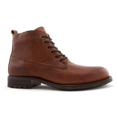 Lloyde & Pryce - Tommy Bowe Lloyd & Pryce Mens Faulkner Brown Lace Up Leather Ankle Boot