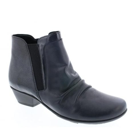 Remonte Ladies Lake/Dark Navy Low Heeled Ankle Boots