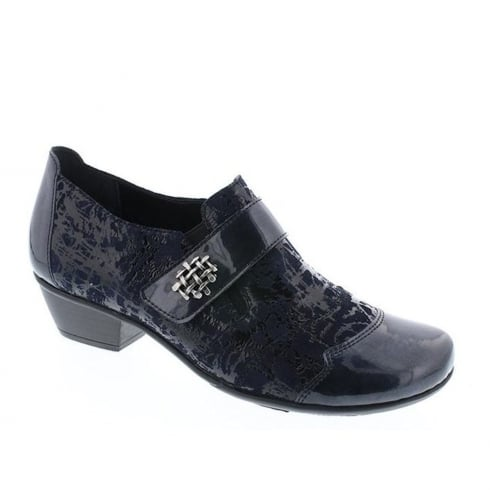 Remonte Ladies Navy Slip On Ankle Shoes
