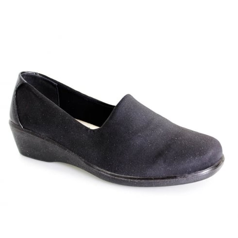 Lunar Women Nicky Elasticated Shoe - Black