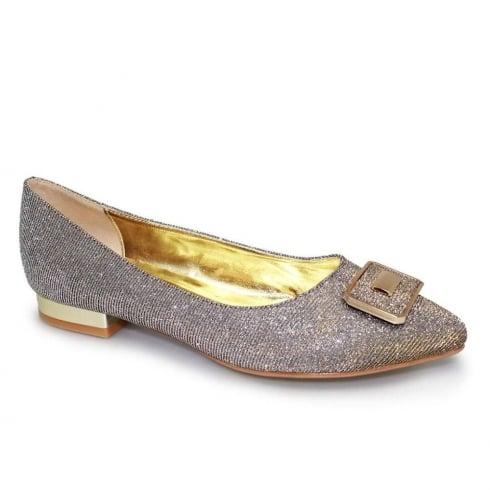 Lunar Davies Womens Gold Glitter Elegant Pump