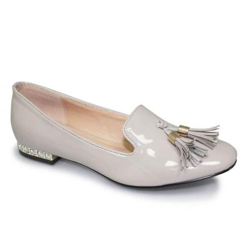 Lunar Glenda Womens Beige Tassle Loafers
