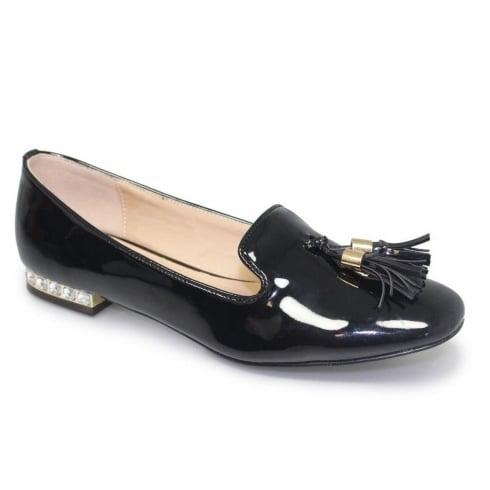 Lunar Glenda Womens Black Tassle Loafers