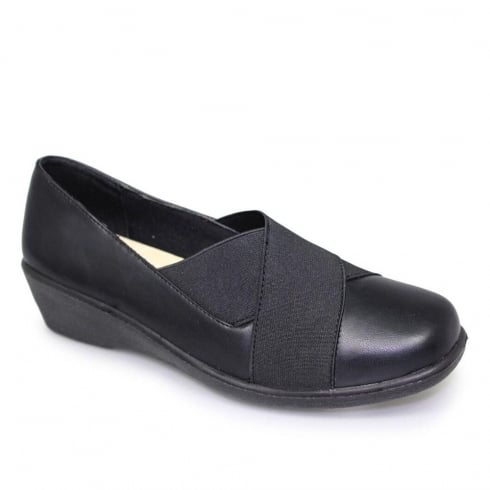 Lunar Jones Womens Black Elasticated Shoes