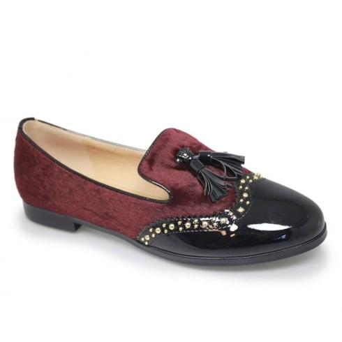 Lunar Felton Womens Burgundy Tassle Brogue Loafers