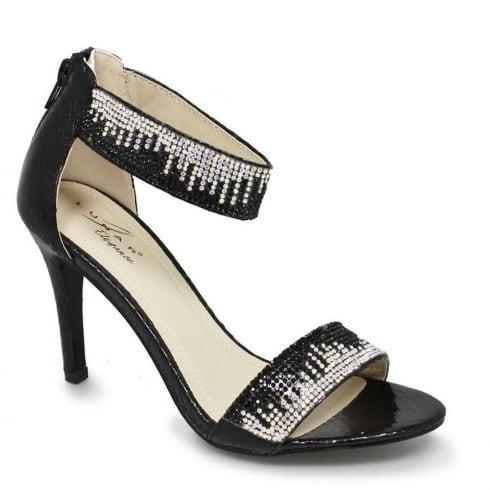 Lunar Clara Black Ankle Strap Evening Heels