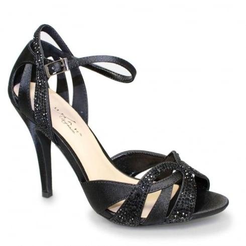 Lunar Naomi Black Ankle Strap Elegance Heeled Sandal