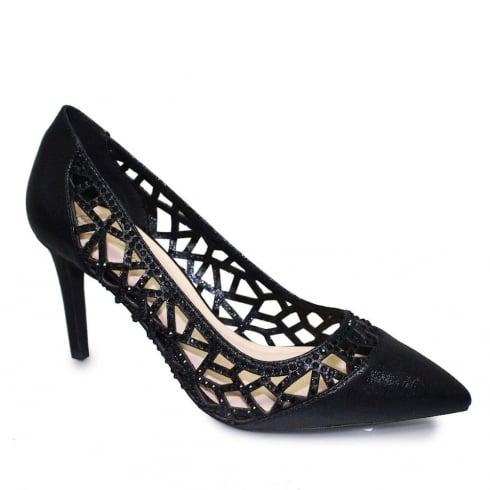 Lunar Caroline Black Pointed Evening Heels