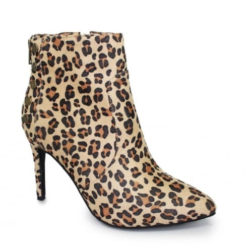 Lunar Harmony Ocelot Stiletto Fashion Ankle Boots