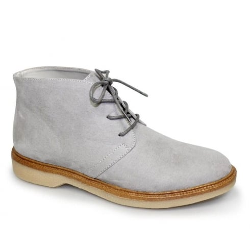 Lunar Virginia Grey Flat Lace Up Ankle Boots