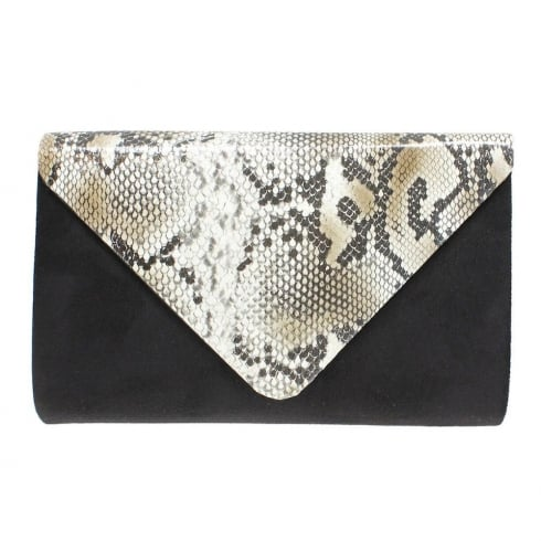Lunar Womens Occasion Lotty Bag - Black/Grey