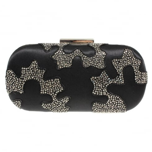 Lunar Womens Rebecca Black Clutch Bag