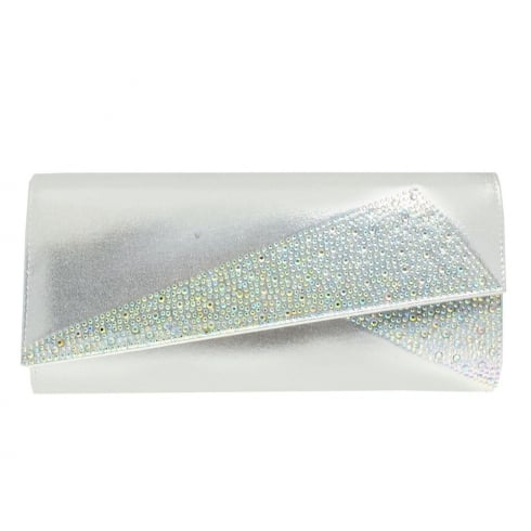 Lunar Imogen Silver Clutch Bag