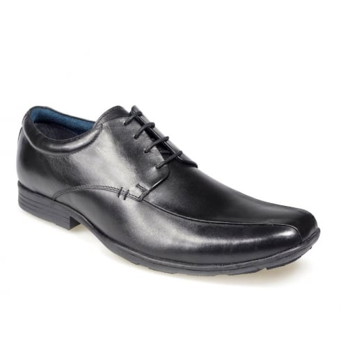 POD Wessex/Angus Black Boys Lace Up School Shoes